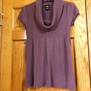 Sweaters - Cowlneck Short-Sleeved Sweater, Juniors XL